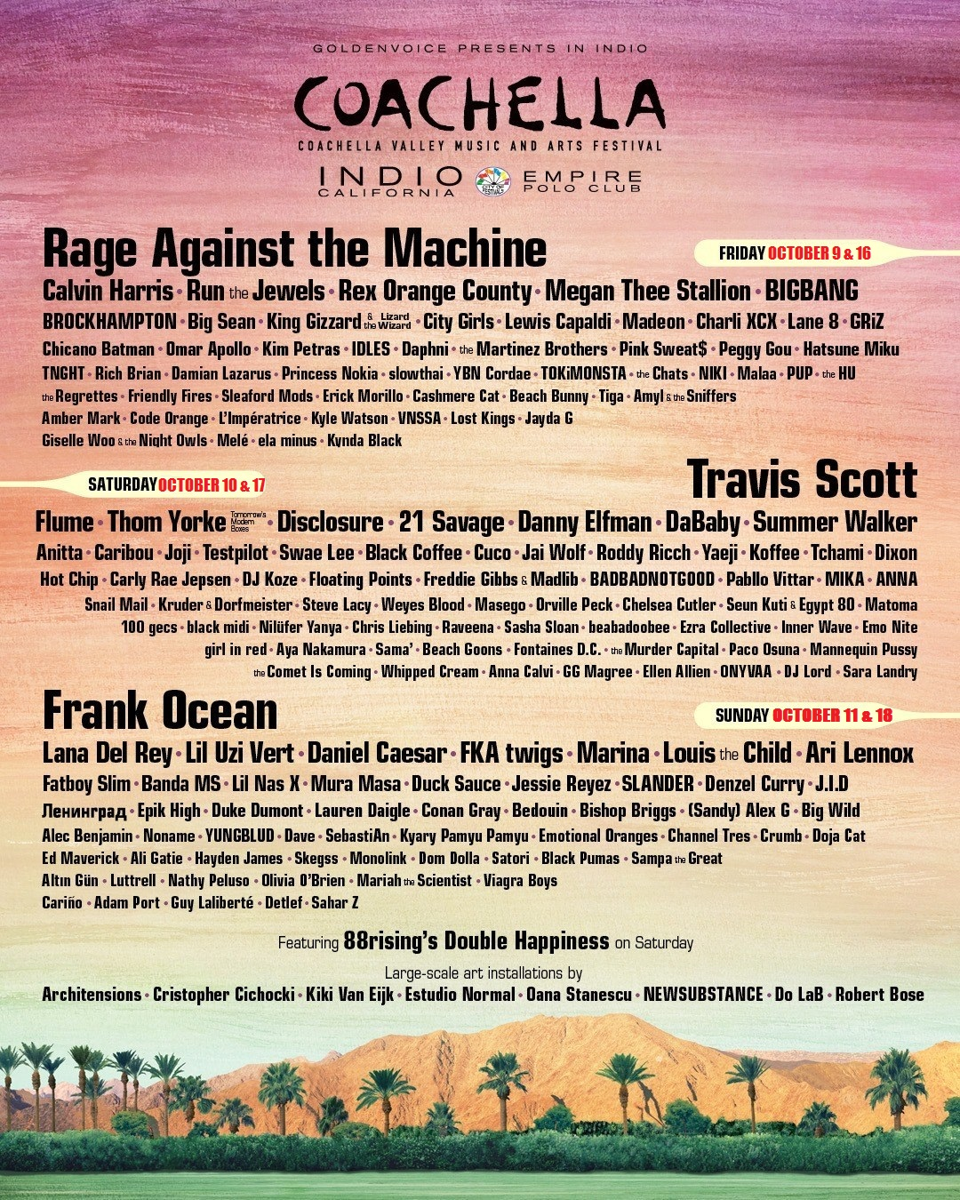 2020 COACHELLA Valley Music and Arts Festival