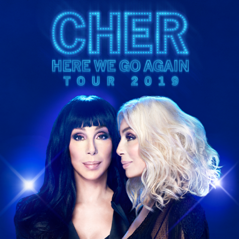 "Cher 2019 ""The Here We Go Again"" Tour in Columbus February 10 7:30pm 2019"