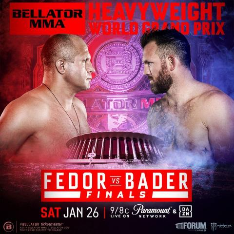 Bellator MMA: Fedor Emelianenko vs. Ryan Bader in Los Angeles January 26 2019