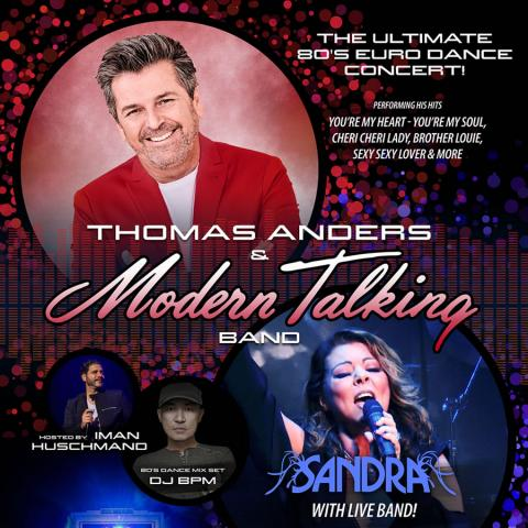 Thomas ANDERS & Modern Talking Band & SANDRA in Los Angeles on August 15 & 16