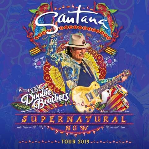 Grammy Award-winning Carlos Santana in the Supernatural Now tour in Hartford on August 21 2019