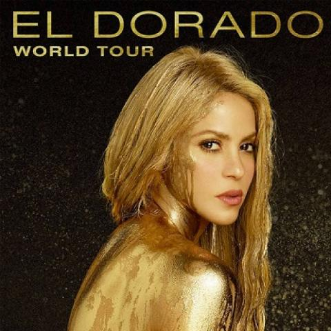 SHAKIRA in 'El Dorado' World Tour concert in Los Angeles The Forum September 28-29 7:30pm